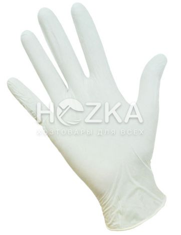 Перчатки латексные б/пудры 100 шт.L (7% ) - 1