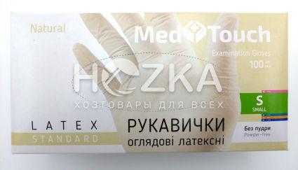 Перчатки MedTouch латексные б/пудры 100шт S - 1