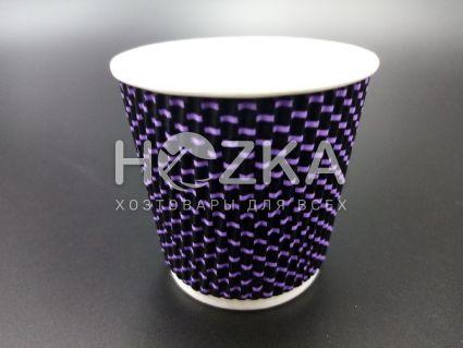 Стакан гофрированный L 110 мл 20 шт 3Д фиолетовый - 2