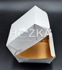 Упаковка крафт 120х120х93 мм для бургеров Макси,100 шт