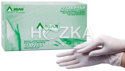 Перчатки IGAR латексные L 100 шт. уп. - 1