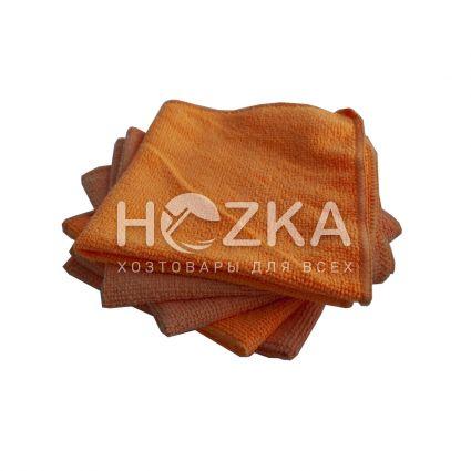 Салфетка микрофибра Сlean Up универс оранжевая 30х30 см 5шт - 1