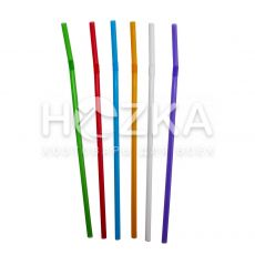 Трубочки Ассорти цветные  с гофром 21 см 200 шт