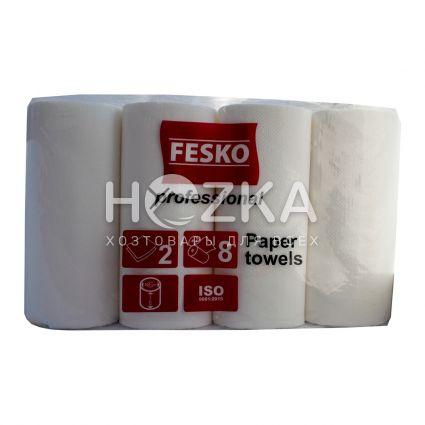Полотенце бумажное белое 2-слоя Professional 8 рул - 1