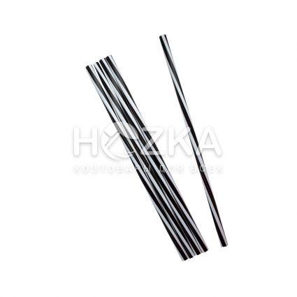 Трубочки Винтовые Фреш чёрно-белые 25 см 500 шт - 1