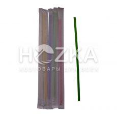 Трубочки Ассорти прямые в инд/уп 21 см 200 шт
