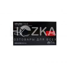 Перчатки NITRILEX  одноразовые нитриловые чёрные L 100 шт