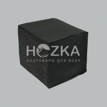 Барные черные салфетки 24*24, 300 шт/пач - 2
