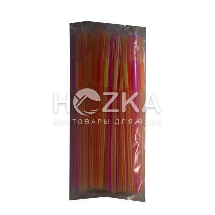 Трубочки с длинным гофром 27 см 100 шт - 3