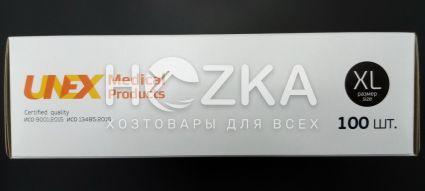 Перчатки одноразовые нитриловые чёрные XL 100шт - 4