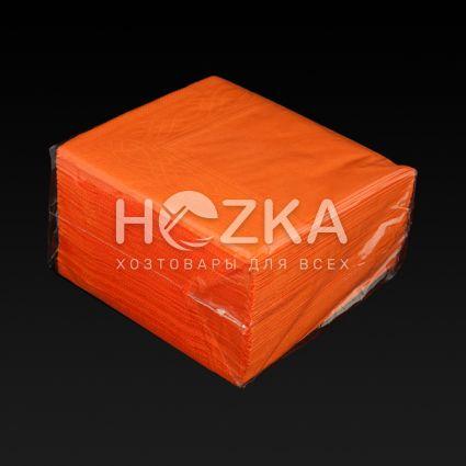 Салфетки 33*33 2 слоя оранжевые 100 шт - 3