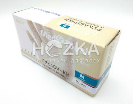 Перчатки MedTouch латексные б/пудры 100шт M - 2