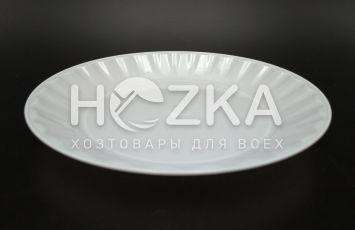 Тарелка 165 мм десертная 10 шт. стеклоподобная белая