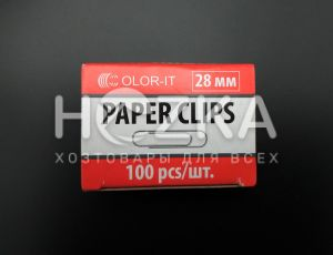 Скрепка металлическая 28 мм С
