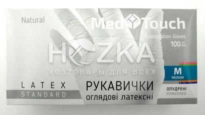 Перчатки MedTouch латексные 100шт M