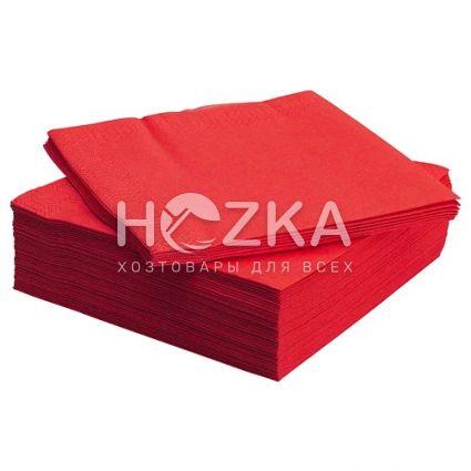 Салфетки 33*33 2 слоя красные 100 шт - 1