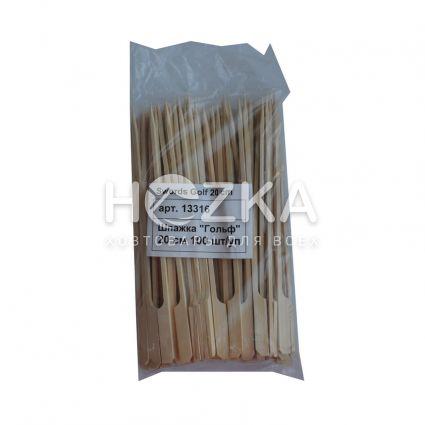 "Шпажка""Гольф"" 20см 100 шт из бамбука - 3"