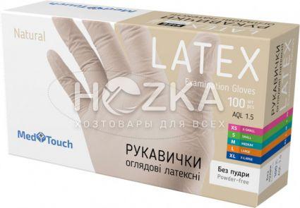 Перчатки латексные без пудры S 100 шт. - 1