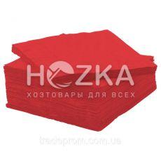 Салфетки 33*33 2 слоя красные 250 шт
