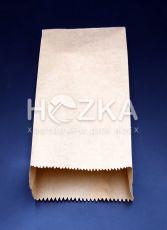 Пакет бумажный  крафт  бурый 100*40*230, 1000  шт