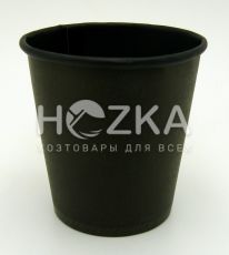Стакан однослойный чёрный внутри и снаружи 110 мл/50 шт