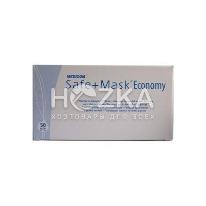 Процедурная маска с петлями 50 шт/уп - 3