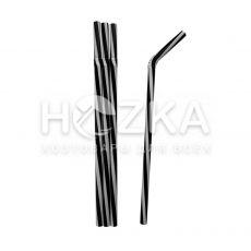 Трубочки Винтовые Фреш  гофр чёрно-белые 23,5 см 100 шт