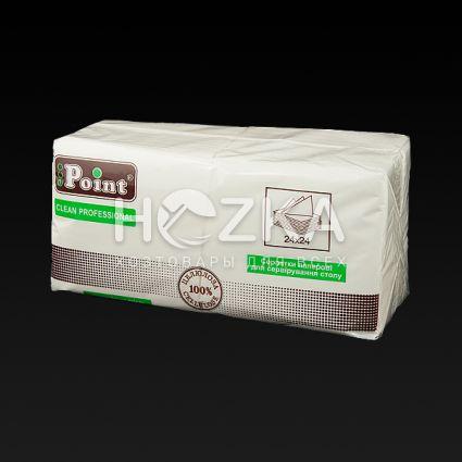 Салфетка 24*24 2 слоя белая 200 шт - 1