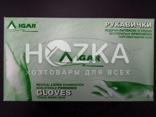 Перчатки IGAR латексные S 100 шт