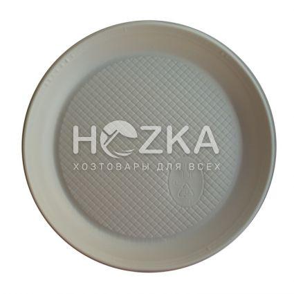 Тарелка 165 мм десертная 100 шт/уп белая - 3