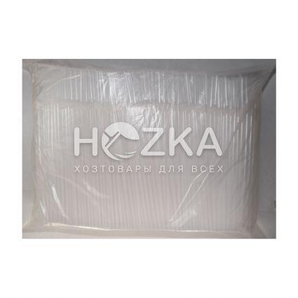 Трубочки гофрированные прозрачные 21 см, d=5 мм, 1000 шт - 3