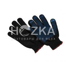 Перчатки чёрные точечная ладонь