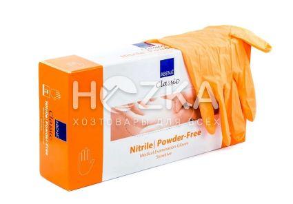 Перчатки нитриловые неопудренные оранжевые M 100 шт - 1