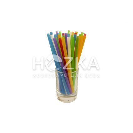 Трубочки Ассорти прямые 12,5 см 200 шт - 2