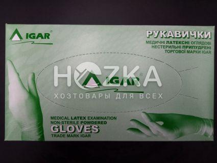 Перчатки IGAR латексные S 100 шт - 1