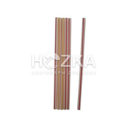 Трубочки Фреш полосатые прямые d-6,8 21 см 500 шт - 1