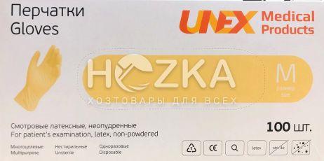 Перчатки латексные UNEX 100 шт. M