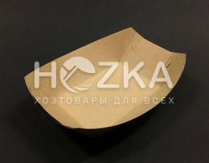 Тарелка Лодочка крафт ЕКО лам 215*145 100 шт/уп