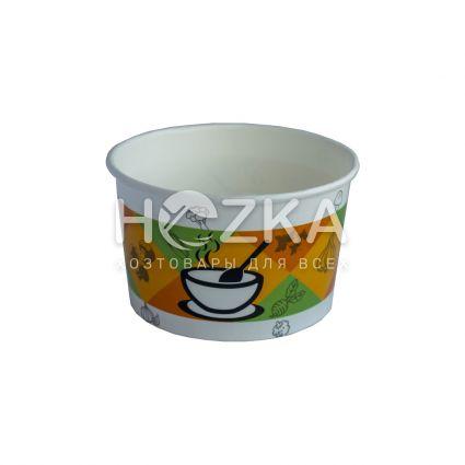 Контейнер суповой бумажный 470 мл (50шт/уп) - 1