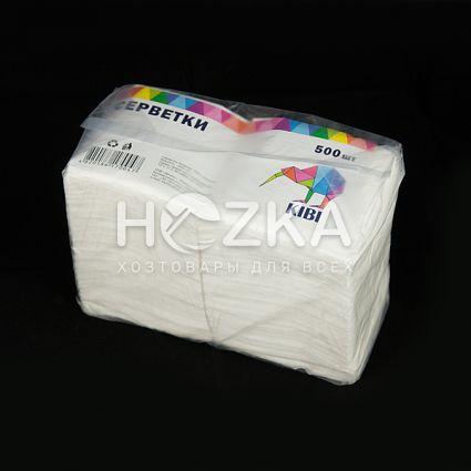 Барные белые салфетки 24*24 500 шт supreme - 2