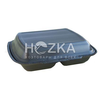 Ланч-бокс 250*210*70 мм НР-2, 2-х секц 125шт/уп (черн) - 1