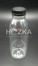 Бутылка 0,5 л прозрачная + крышка 38 мм
