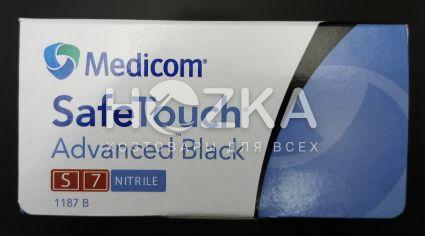 Перчатки нитриловые Safe Touch чёрные S 5.0 г 100 шт - 5
