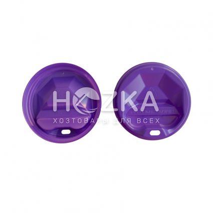 Крышка пластик U для бумажного стакана 90 (50 шт) цветная - 1