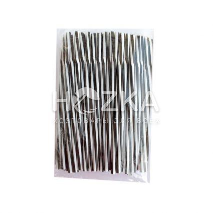 Трубочки Винтовые Фреш гофр чёрно-белые 23,5 см 100 шт - 3