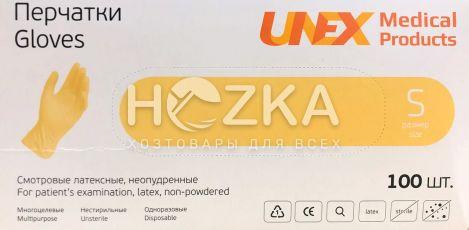 Перчатки латексные UNEX 100 шт. S