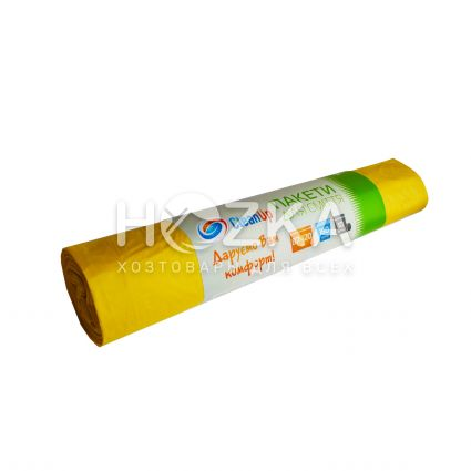 Мешки для мусора Сlean Up 160 л/10 шт жёлтые - 2