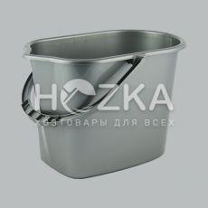 Ведро МОП 10л прямоугольное металлик