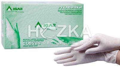 Перчатки IGAR латексные L 100 шт. уп.