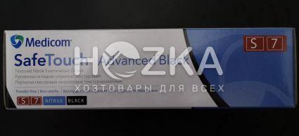 Перчатки нитриловые Safe Touch чёрные S 5.0 г 100 шт - 3